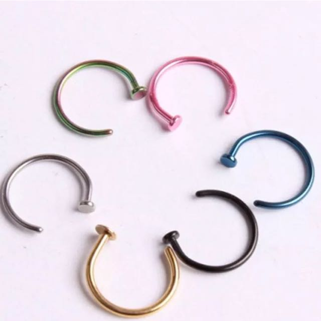 High Quality Stainless Steel Colourful Nose Rings