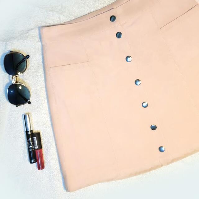 H&M Button Down Skirt (Size 26-27)