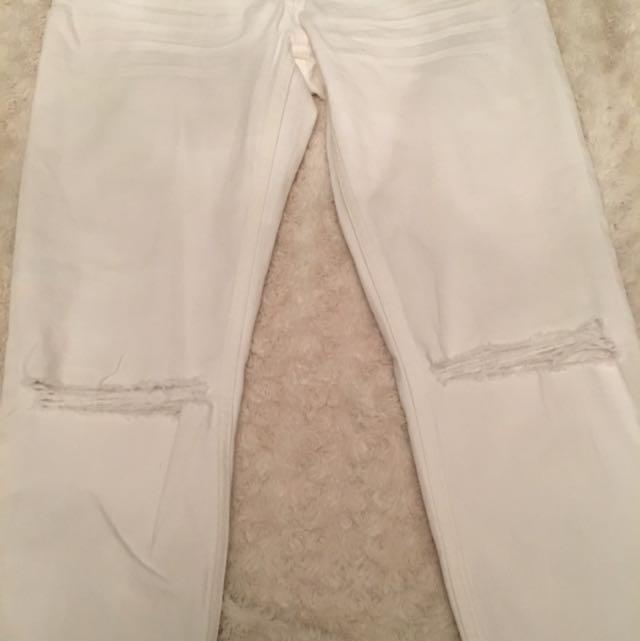 H&M White Skinny Jeans