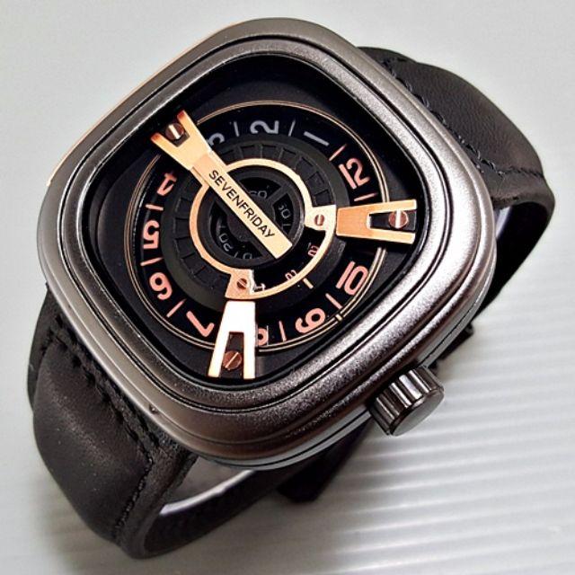 Jam Tangan Pria Seven Friday M Series Leather || 3 Pilihan Warna