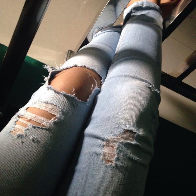 Jasa Bikin Ripped Jeans
