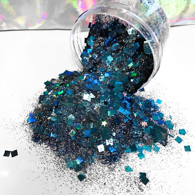 "*Limited Edition* Blue Makeup/Body Glitter - ""Solar Midnight"""