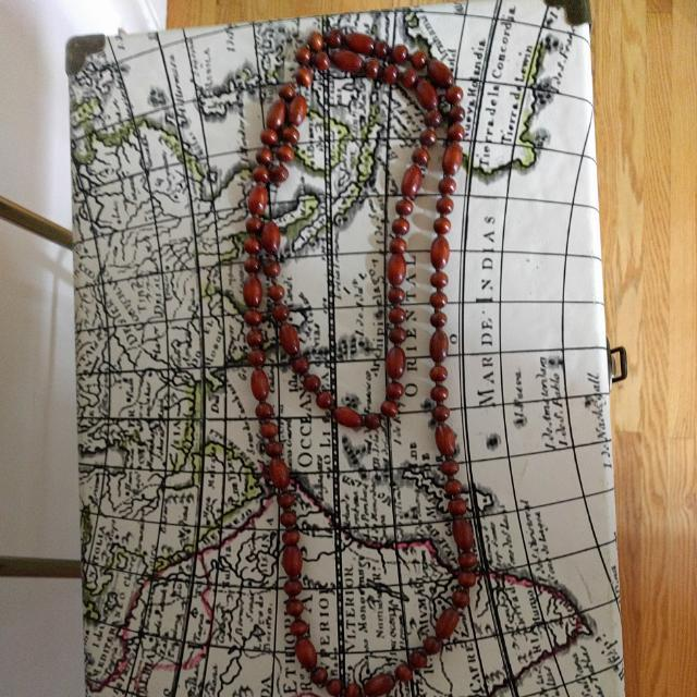 Long String Of Wooden Beads