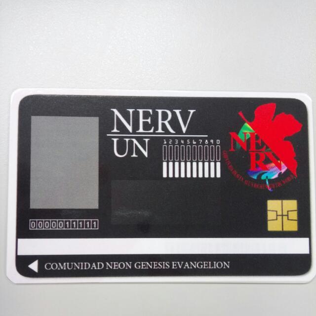 新世紀福音戰士 Nerv基地識別證悠遊卡