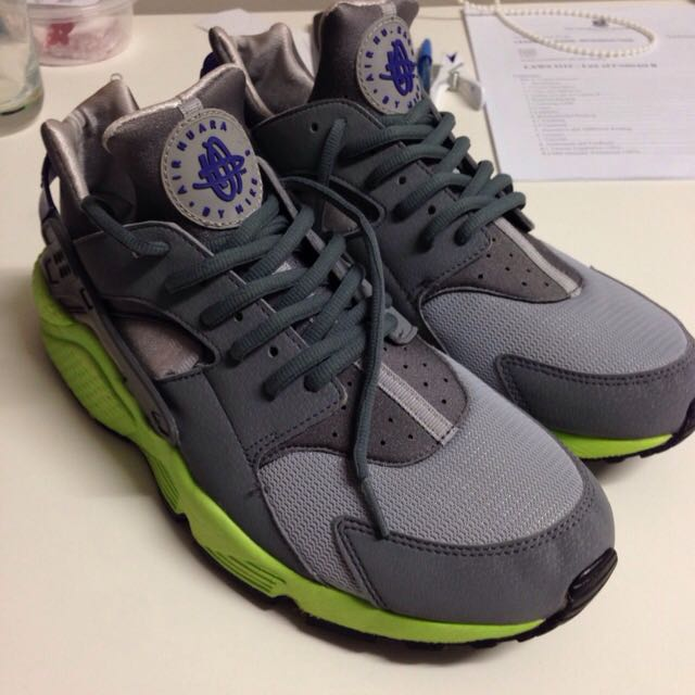 Nike Air Huarache Grey / Green