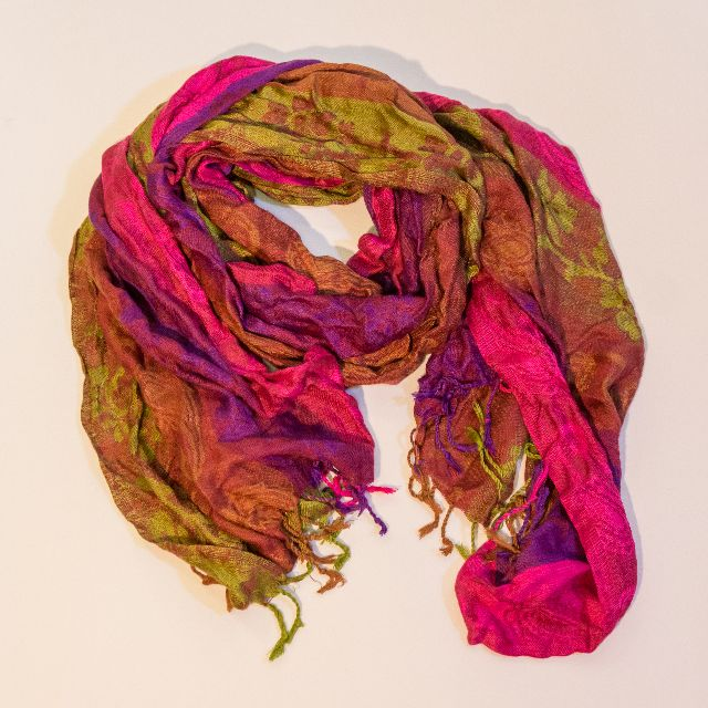Pink / Purple / Gold Indian Scarf