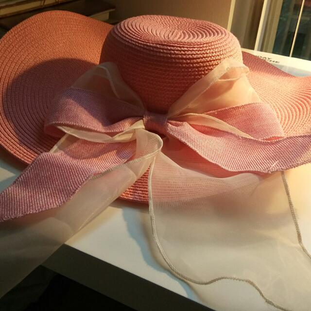 Pink Floppy Sun Hat