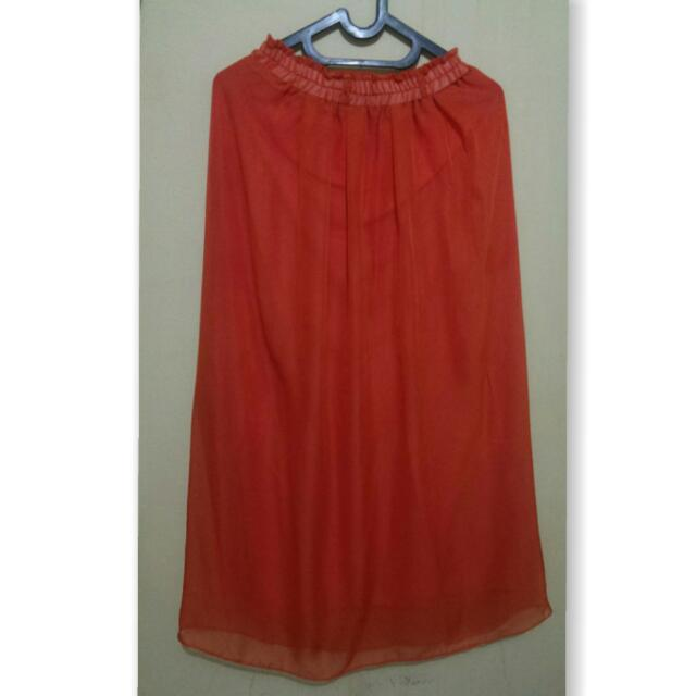 Rok Panjang Orange