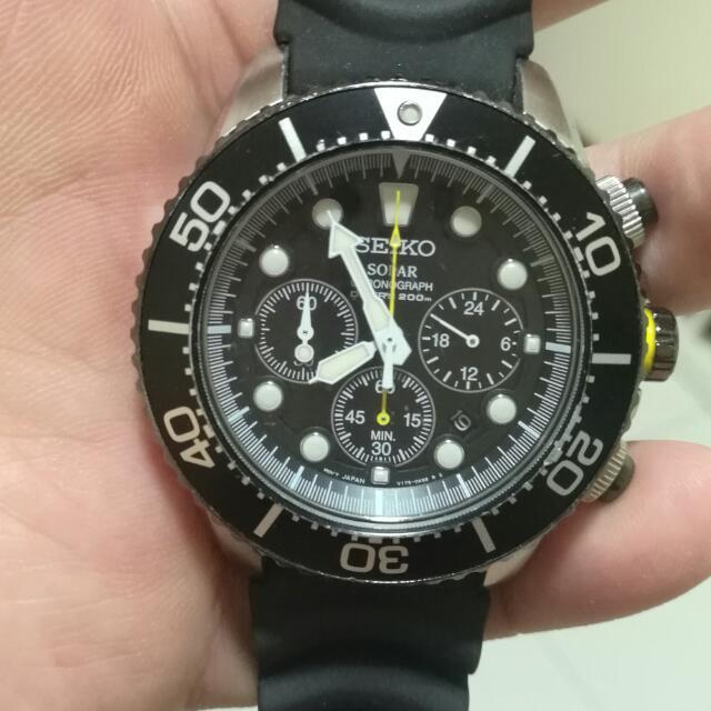 Seiko Solar Chronograph SSC021P1