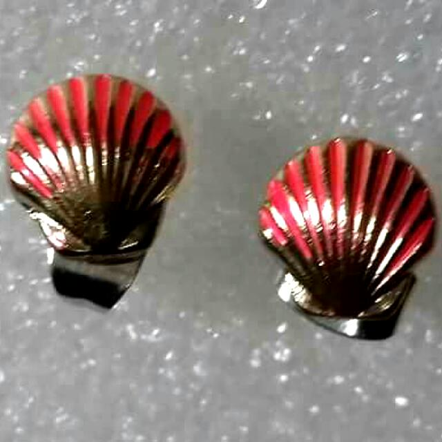 SHELL Earrings (Pink)