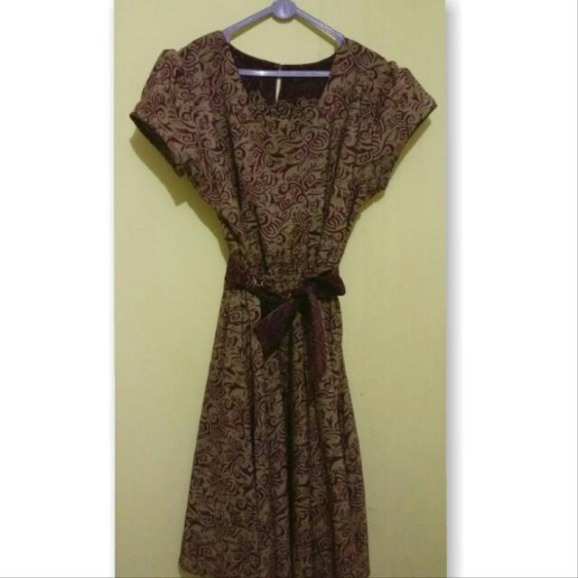 Short Dress Batik Purple