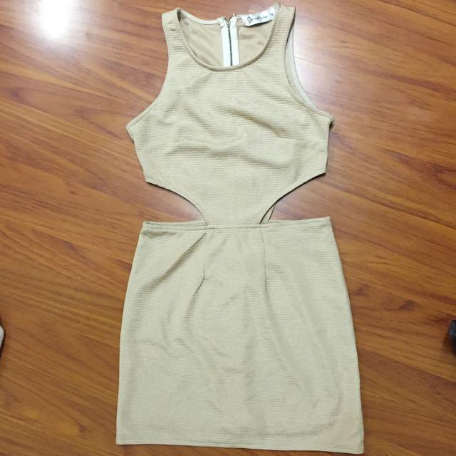 Side Cut Out Bodicon Dress