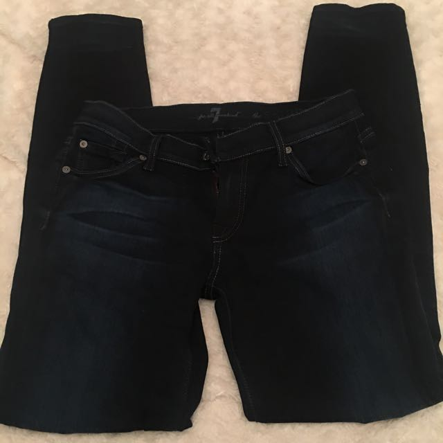 Skinny Dark Blue Jeans 7 For All Man Kind