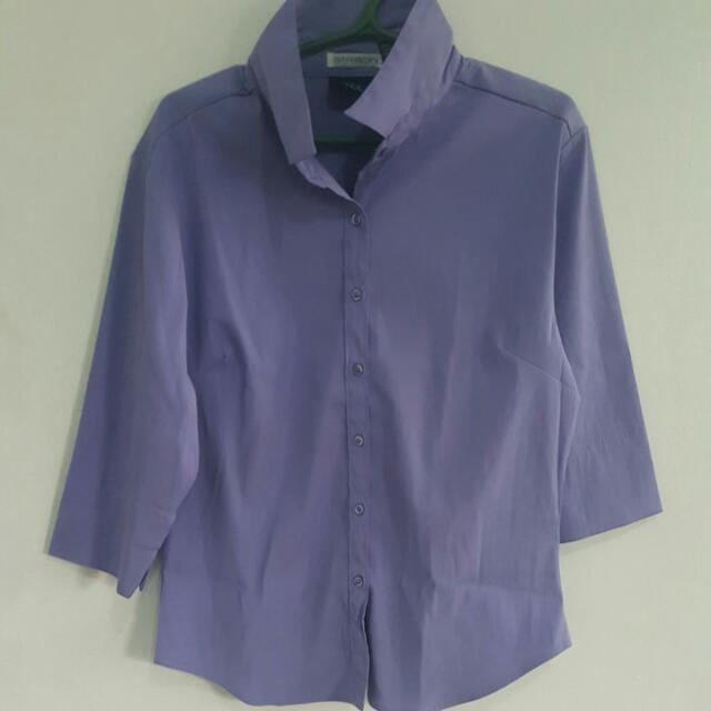 Stretch Lilac Blouse