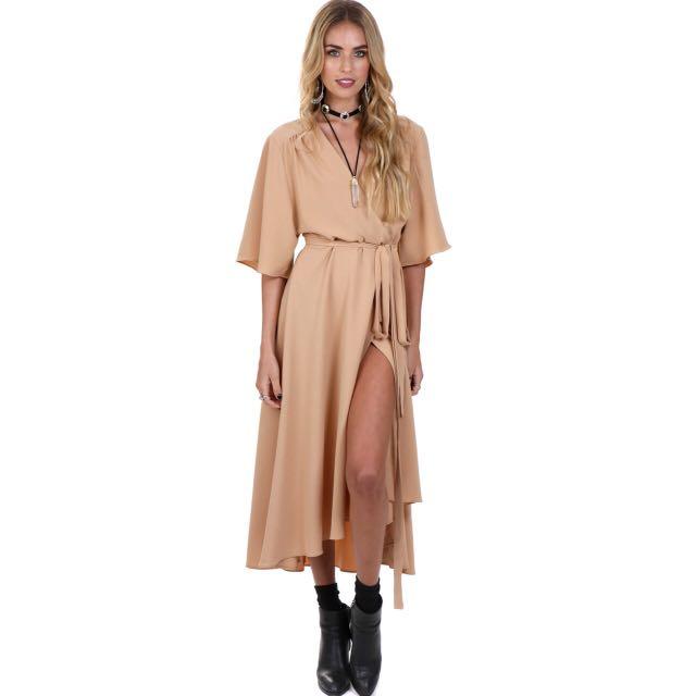 Verge girl Goldie maxi wrap dress