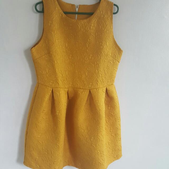 Yellow Balloon Dress