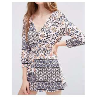 ASOS Playsuit in Ditsy Floral BNWT