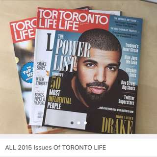 FREE All 2015 Issues Of Toronto Life!
