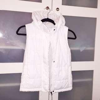 Fleecy White Vest