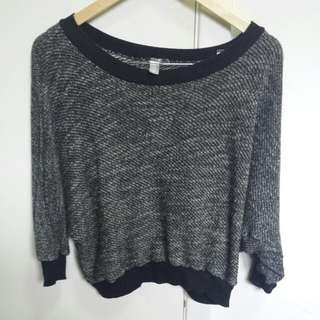 American Apparel Sweater in Black/white
