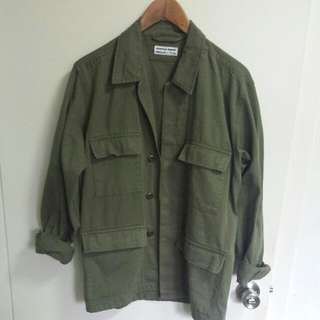 American Apparel Tweed Military Jacket
