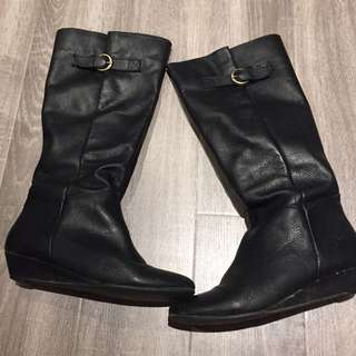 Steve Madden Intyce Black Boots