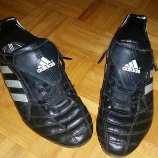 Black Addidas Soccer Cleats ; Size 10 Mens