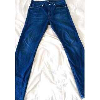 🚚 Levi's Calorfornia 蔚藍色 修身直筒 牛仔褲 W32