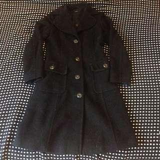 Vintage Knee-Length Coat