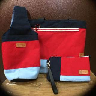 Water Bottle Bag, Tote Bag And Travel Bag