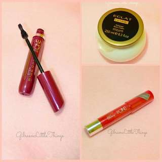 Makeup Set 3 (Mascara + Lipstick + Body Cream)