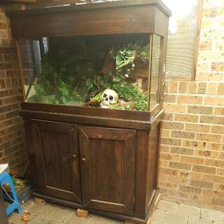 Reptile Tank And Cupboard