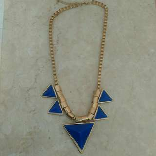 Geometric Blue Necklace