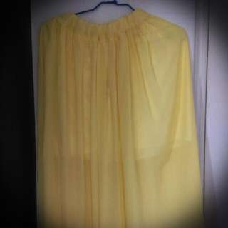 【超便宜】黃色長裙