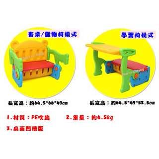 [1100元 含運] 凹槽版_兒童多用途學習儲物 (成長椅、學習桌椅、書桌、椅子、兒童餐桌、餐椅、遊戲圍欄、寶寶椅)