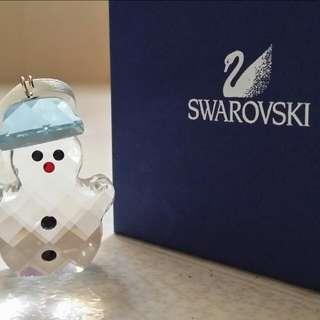(Sales $150) Swarovski 聖誕小雪人掛飾, 紀念,水晶