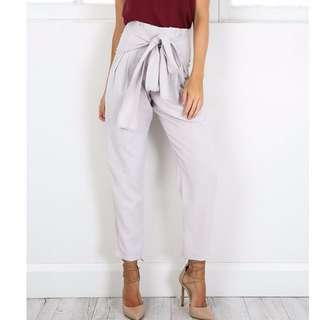 Need Gone!!! New Showpo Grey Bow Tie Pants
