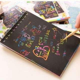 Colourful Doodle Notebook / Scratch Pad