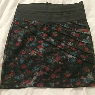 Wet Seal Floral Skirt