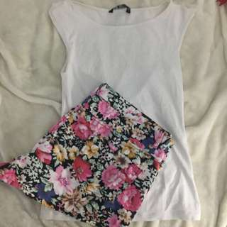 Floral Shorts And Top