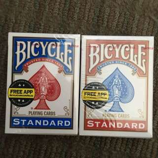 Bicycle cards - Red & Blue