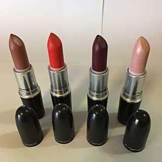 MAC lipsticks used once sanitized