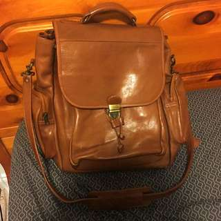 AUTHENTIC Genuine Leather Messenger Bag
