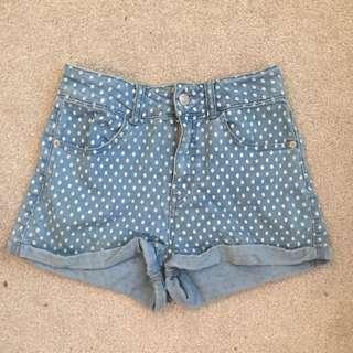 Size 8 Dotti High Waisted Shorts