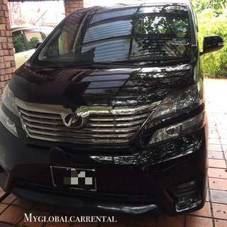 Toyota Vellfire For Rental
