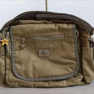 FREE SHIPPING! Blue Magic Brown Sling Bag Body Bag