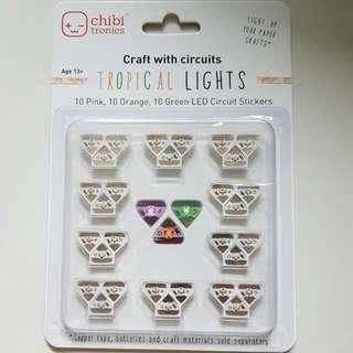 Chibitronics 30 Tropical Lights LED Circuit Stickers
