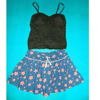 Corset Polka Top + Cotton Skort