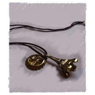 巴黎鐵塔 銅色  頸鏈 頸鍊