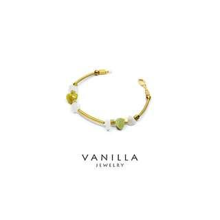 [網路價]  Vanilla Jewelry獨家設計款- 純手工天然石黃銅手鍊